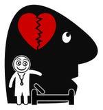 Psichiatra e paziente illustrazione di stock