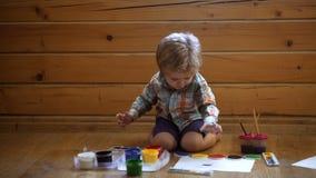Psicología de la personalidad del ` s del niño Ayuda que gana confianza Gráfico Concepto de la creatividad y de la educación Lind almacen de metraje de vídeo