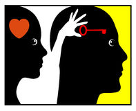Psicologia do amor Foto de Stock Royalty Free