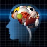 Psicologia do esporte Imagem de Stock