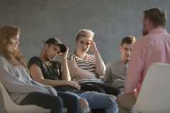Psicoterapia para adolescentes incomodados Foto de Stock