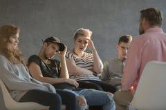Psicoterapia para los adolescentes preocupados Foto de archivo