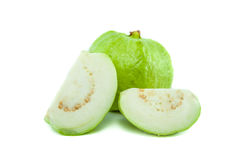 Psidium guajava Linn bright green guava Royalty Free Stock Images