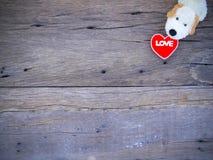 Psiego roku valentine 2018 abstrakcjonistyczny tło z drewnianą teksturą Obraz Stock