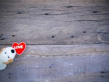 Psiego roku valentine 2018 abstrakcjonistyczny tło z drewnianą teksturą Zdjęcia Stock