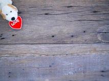 Psiego roku valentine 2018 abstrakcjonistyczny tło z drewnianą teksturą Obrazy Stock