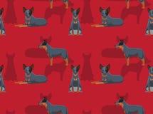 Psiej Cattledog kreskówki Bezszwowa tapeta Zdjęcie Stock