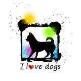 Psiej głowy szczeniaka zwierzęcia domowego czerni zwierzęca biała grafika royalty ilustracja