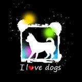 Psiej głowy szczeniaka zwierzęcia domowego czerni zwierzęca biała grafika ilustracji
