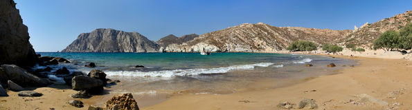 Psili Ammos beach Patmos Greece Royalty Free Stock Photography