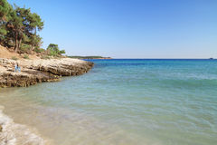 Psili Ammos beach , in Thasos island Royalty Free Stock Photo