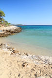 Psili Ammos beach , in Thasos island Stock Photos