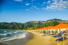 Psili Ammos beach, Thassos island, Greece Stock Images