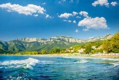 Psili Ammos beach, Thassos island, Greece Royalty Free Stock Images