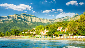 Psili Ammos beach, Thassos island, Greece Royalty Free Stock Photos