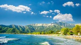 Psili-Munitionen setzen, Thassos-Insel, Griechenland auf den Strand Stockbilder