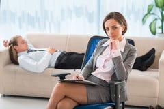Psiquiatra profissional imagem de stock royalty free