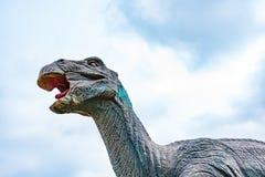Psittacosaurus under blue sky. Psittacosaurus under a blue sky Stock Photos