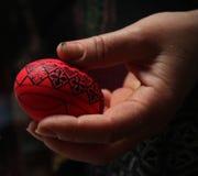 Påsk målat ägg Fotografering för Bildbyråer