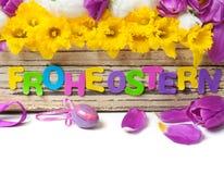 Påskgarnering, påskägget, påsk sätter en klocka på Royaltyfria Bilder