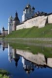 Pskov Κρεμλίνο στην ανατολή Στοκ Φωτογραφία