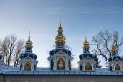 Pskov-Caves Monastery Royalty Free Stock Photo