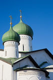 Pskov, Church of the Epiphany with Zapskove Royalty Free Stock Photography