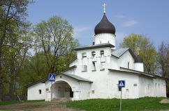 Pskov. Church in spring day, Russia Stock Images