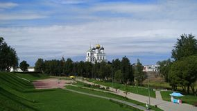 Pskov Church, square nearly the Kremlin royalty free stock photos