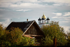 Pskov city streets Royalty Free Stock Images