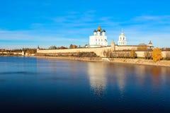 Pskov der Kreml (Krom) Stockfotografie