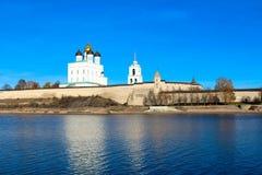 Pskov der Kreml (Krom) Stockbild
