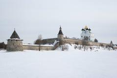 Pskov het Kremlin stock fotografie
