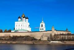 Pskov het Kremlin (Krom) royalty-vrije stock fotografie