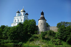 The Pskov Kremlin Royalty Free Stock Photo