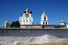 Pskov. The Kremlin. Visiting of the ancient city Pskov and Kremlin Royalty Free Stock Photos