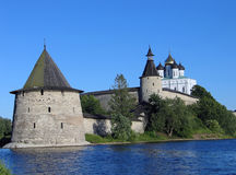 The Pskov Kremlin. royalty free stock photo