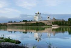The Pskov Kremlin. And river Velikaja,  Russia Stock Photos