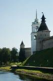 Pskov Kremlin przy wschodem słońca Obraz Royalty Free