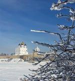 Pskov Kremlin. History fortress Stock Photos