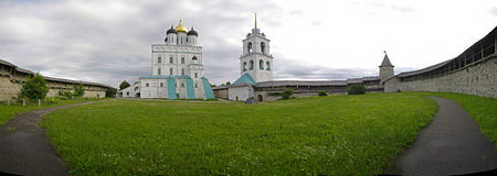 The Pskov Kremlin. Russia. Stock Photos
