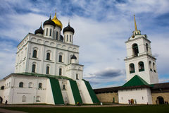 Pskov Kremlin. It's historic center of Pskov, was built in X-XII centures Royalty Free Stock Photos