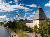 Pskov Kremlin (side view) Stock Image