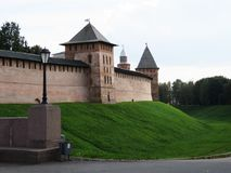 The beauty and grandeur of ancient Pskov. Russia. The Pskov Kremlin is surrounded by a secure fortress wall. Inside - temples, cathedrals, museums. Russia Stock Photos