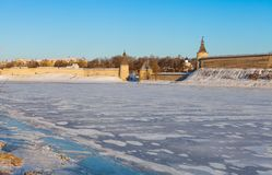 The Pskov Kremlin Stock Photo