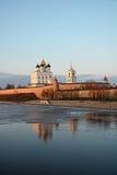 Pskov Krom στο ηλιοβασίλεμα Στοκ φωτογραφία με δικαίωμα ελεύθερης χρήσης