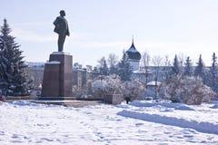 Pskov Lenin fyrkant arkivfoto