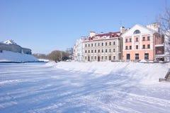 Pskov Pskova rzeka Radziecki bulwar Zdjęcie Royalty Free