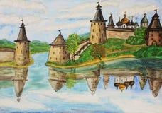 Pskov, Rússia Fotos de Stock Royalty Free