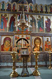 Pskov, Russia, August, 12, 2012. Nobody, the iconostasis of the church of St. Basil the Great in Pskov Royalty Free Stock Photography